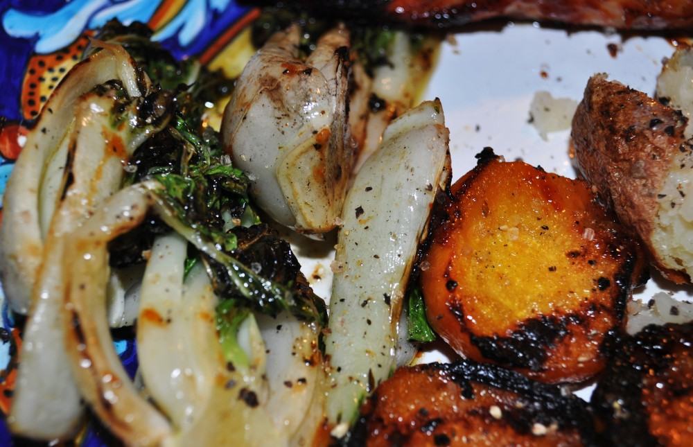 Grilled Baby Bok Choy (3/5)