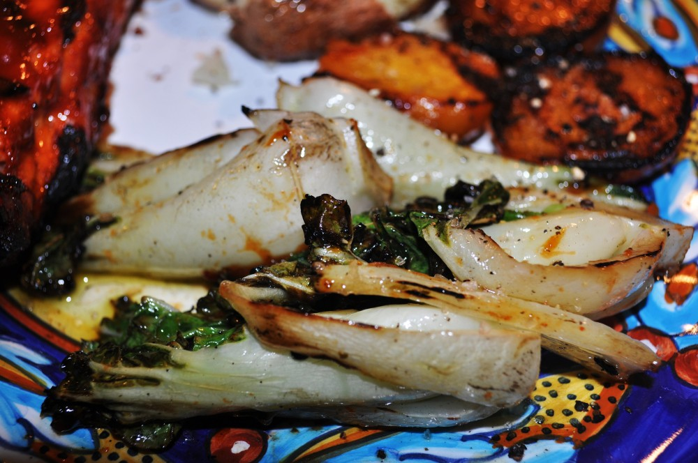 Grilled Baby Bok Choy (4/5)