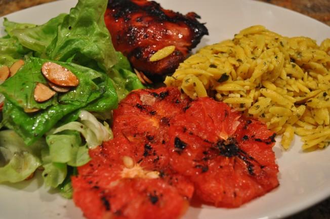 Chicken Orzo Salad grapefruit