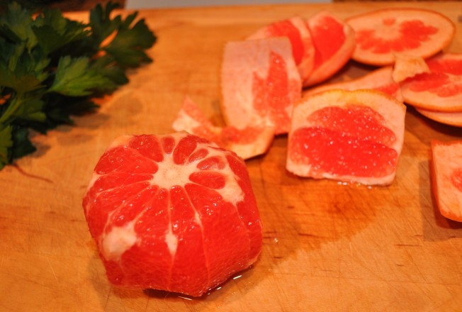 grapefruit peeled