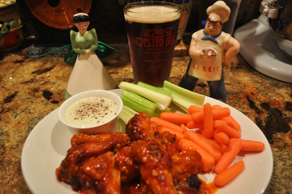 Wings plated with Beer