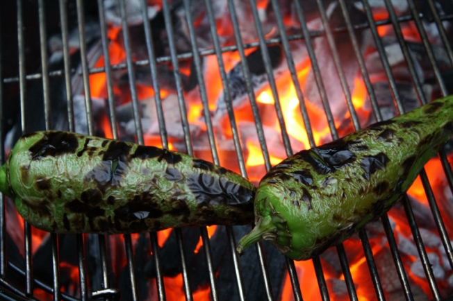 Grilling-Poblano-Peppers