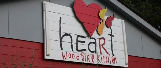 Heart woodfire