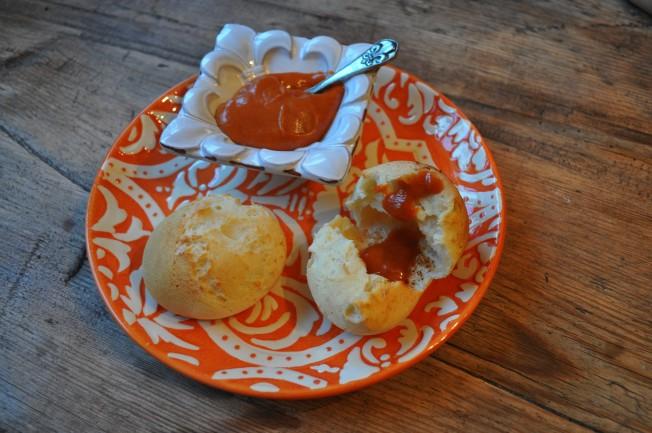 Yuca bread guava chile butter