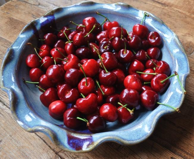 Start with firm ripe cherries