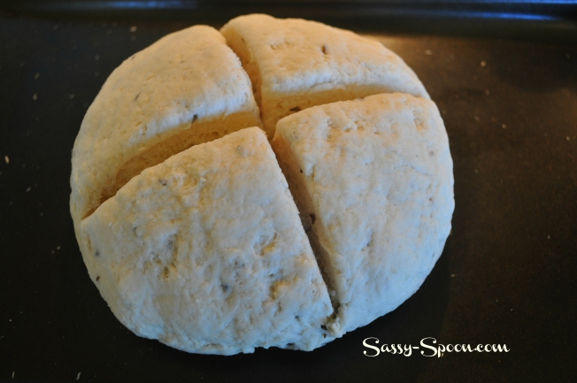 Soda Bread before cooking