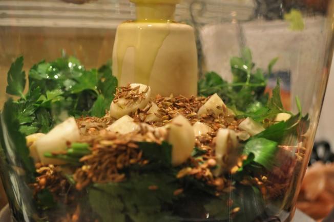 Porchetta seeds.in blender
