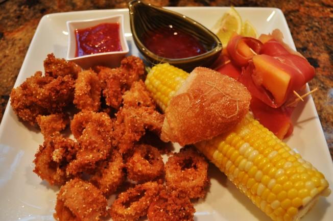 Calamari plated