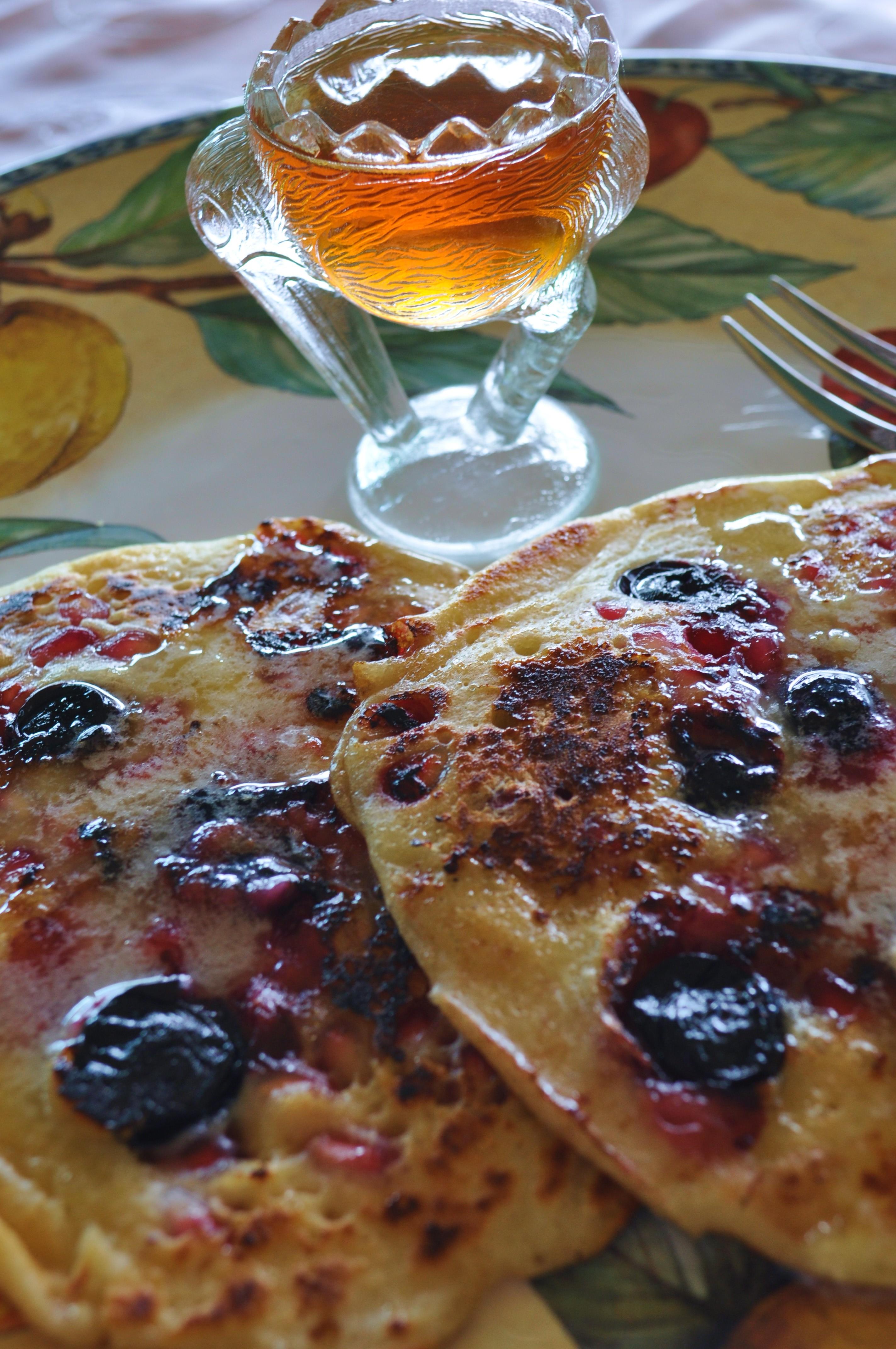 Pomegranate pancakes 4
