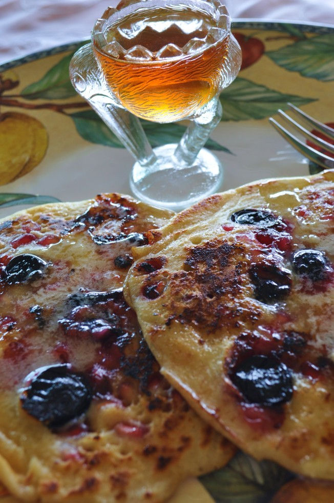 Pomegranate pancakes 4