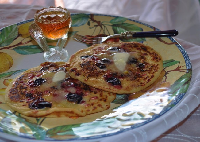 Pomegranate pancakes
